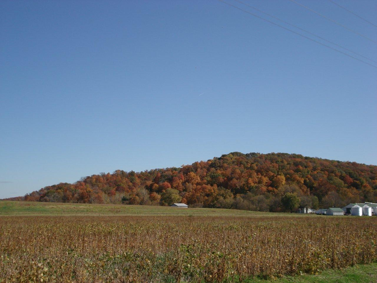 Kay Courtney: Bluffs in Autumn. Monroe County.