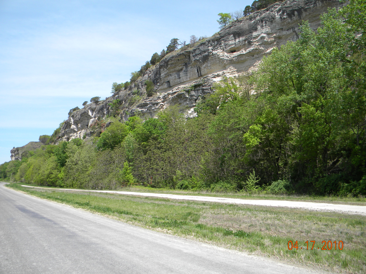 Joyce Kuergeleis: Bluffs in Spring. Monroe County.