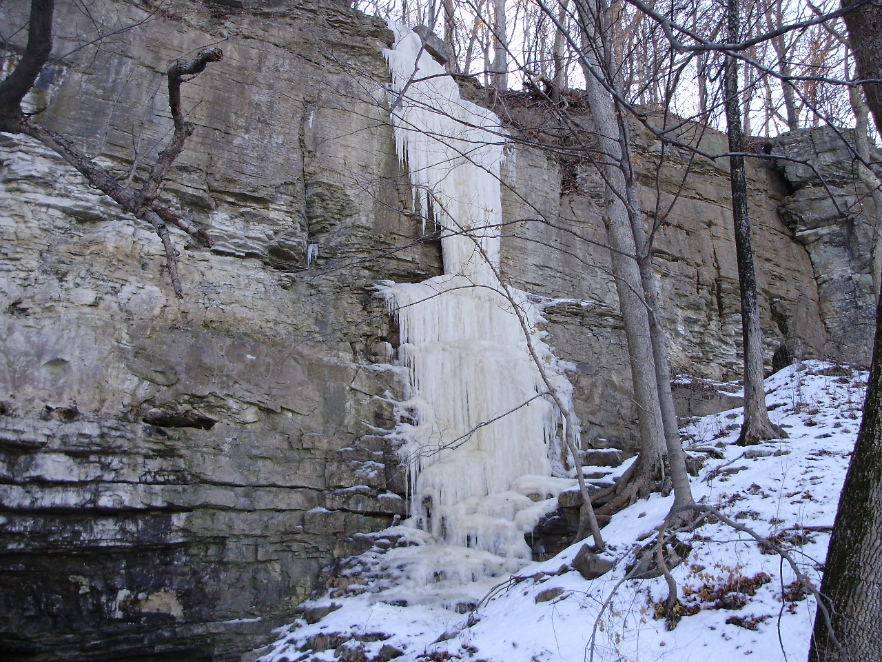 Gail Holzhausen: Bluff Waterfall. Monroe County.
