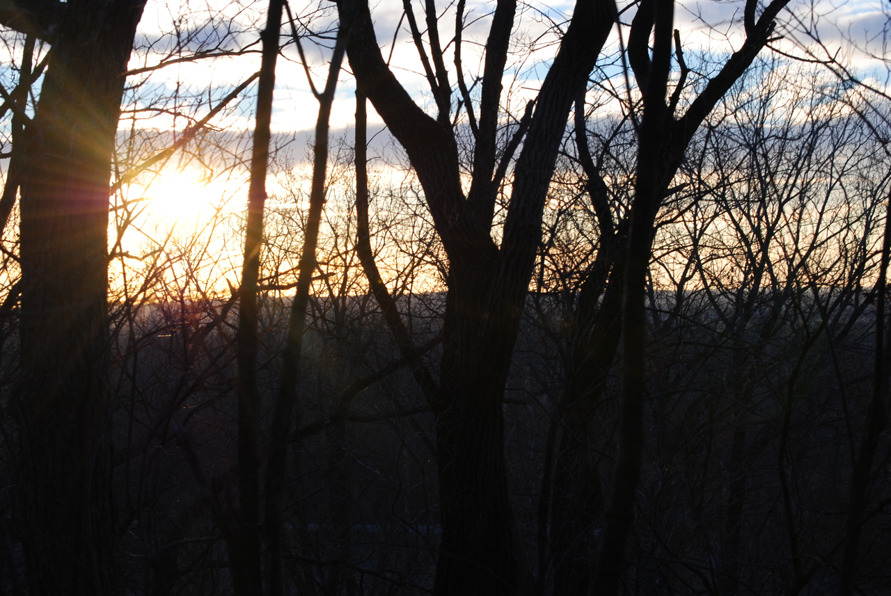 Kaitlin Clapper: Sunset in the Bluffs. Monroe County